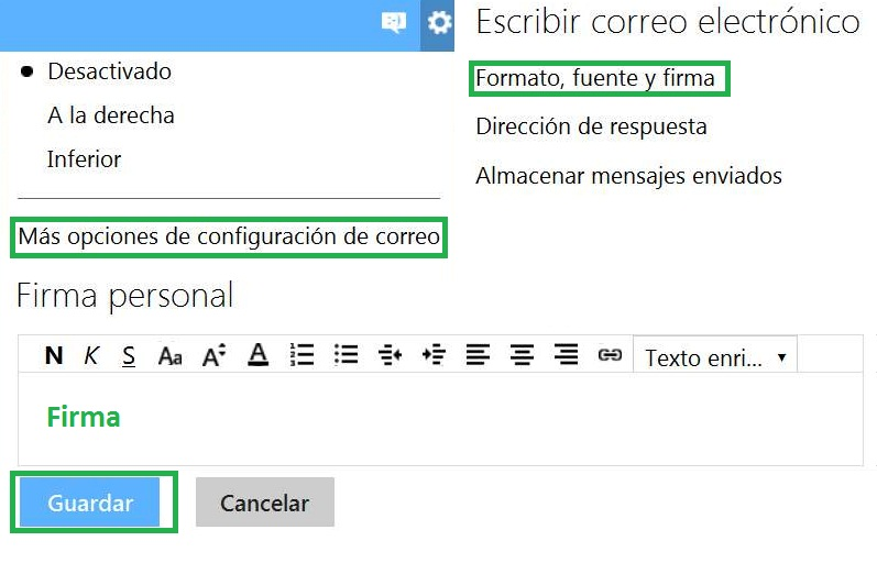 Firma en Outlook