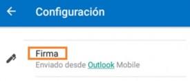 Firmas separadas por cuentas en Outlook para Android