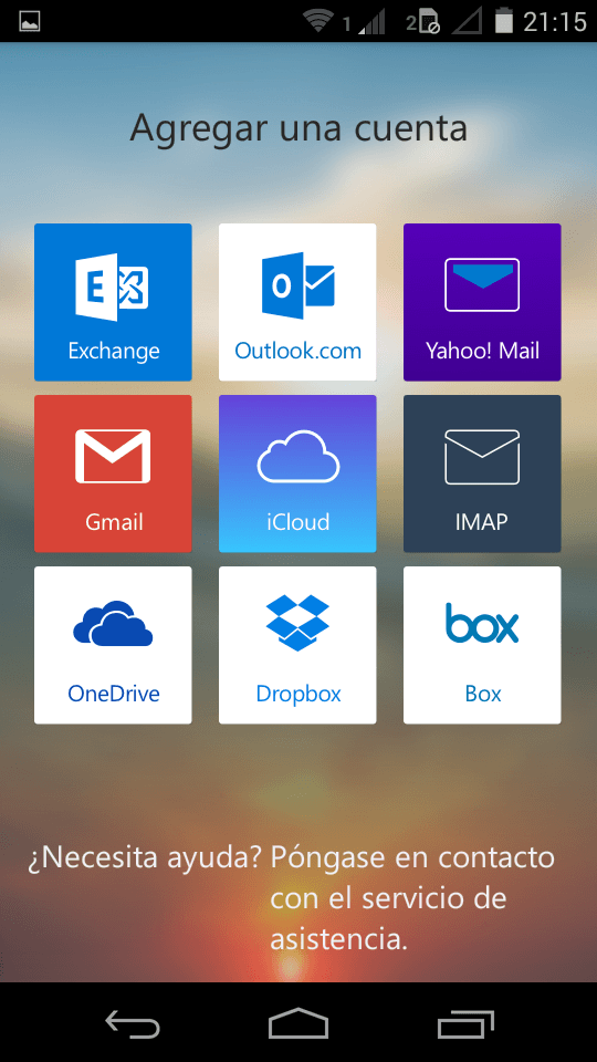 Gmail en Outlook para Android