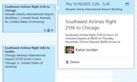 Guardado de vuelos en el calendario de Outlook.com