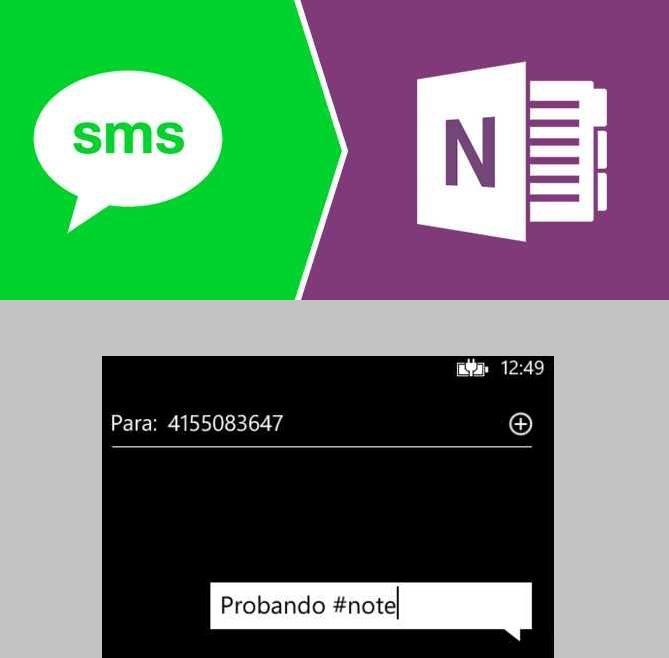 Guardar notas en OneNote mediante mensajes de texto