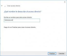 Hacer acceso directo a Outlook.com