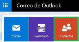 Hacer una lista de contactos en Outlook.com