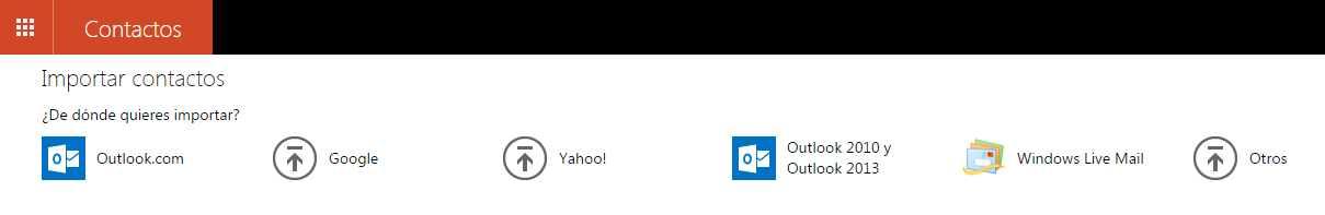 Importar contactos en Outlook.com