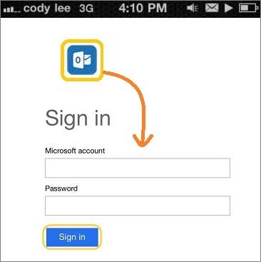 Iniciar sesión en Outlook para iOS