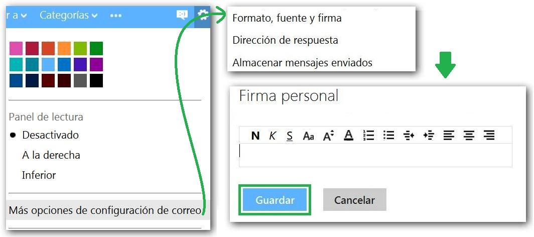 Insertar una imagen en la firma de Outlook