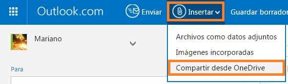 Insertar y Compartir desde OneDrive