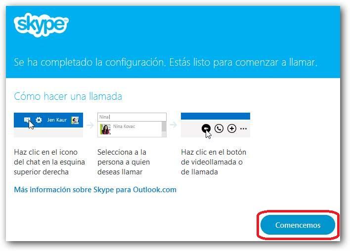 Instalar Skype en Outlook