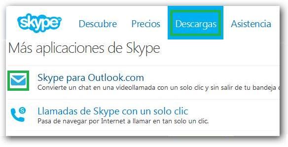 Instalar Skype en el navegador