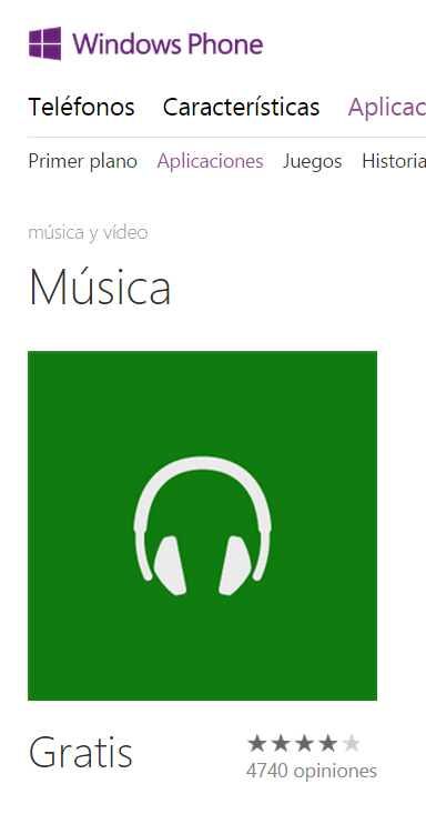 Instalar Xbox Music en Windows Phone