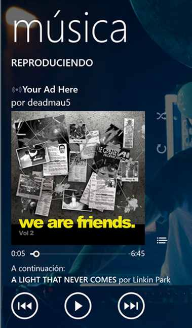 Música Windows Phone