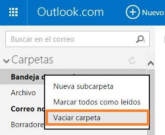 Marcar todos los mensajes como leídos en Outlook.com
