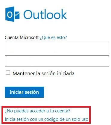 Mi cuenta de Outlook.com está bloqueada