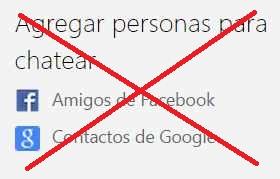 Microsoft eliminará el chat de Google y Facebook