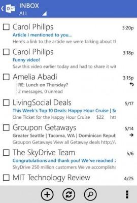 Microsoft quita el soporte a Outlook.com para Android