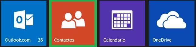 Modificar contactos desde Outlook.com para Android