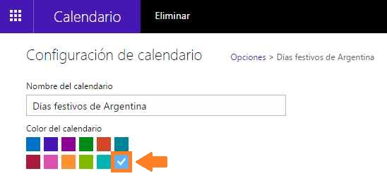 Modificar el calendario de Outlook.com