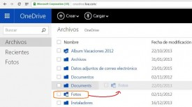 Mover una carpeta en OneDrive