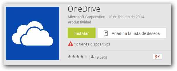 Nueva aplicación de OneDrive para Android