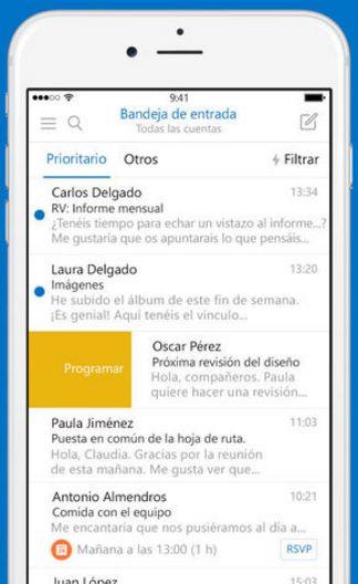 Nueva versión de Outlook iOS