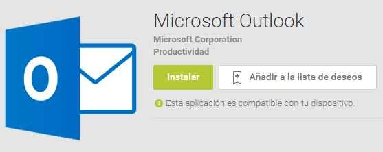 Nueva versión de Microsoft Outlook para Android