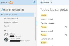 Nuevo buscador de Outlook.com