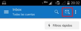 Nuevo correo en Outlook para Android