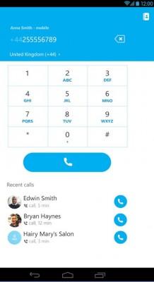 Nuevo diseño de Skype para Android