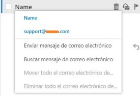 Nuevo menú contextual de Outlook.com