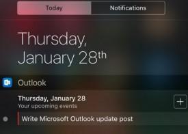 Nuevo widget en Outlook para iOS
