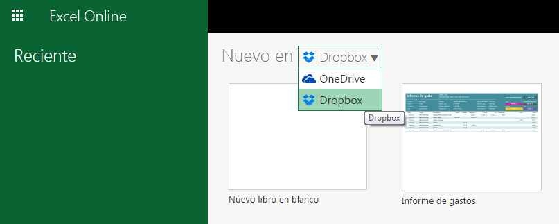 Office Online y Dropbox