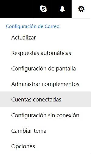 Opciones en el entorno de Outlook Preview