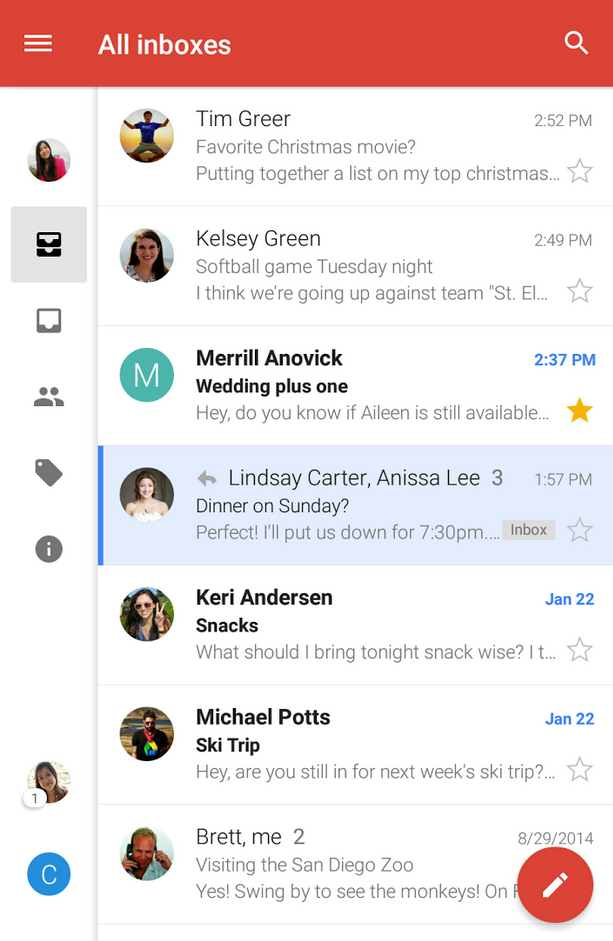 Outlook.com en Gmail para Android