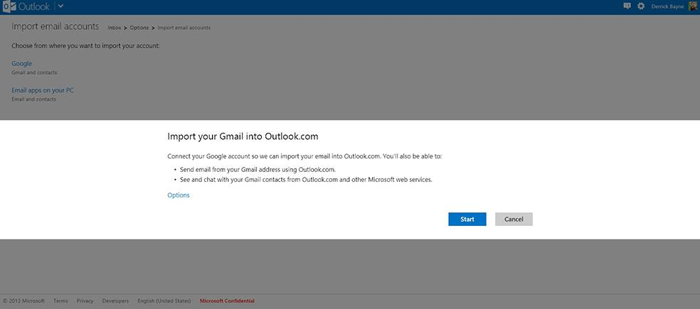 Outlook.com hace más fácil el cambio desde Gmail
