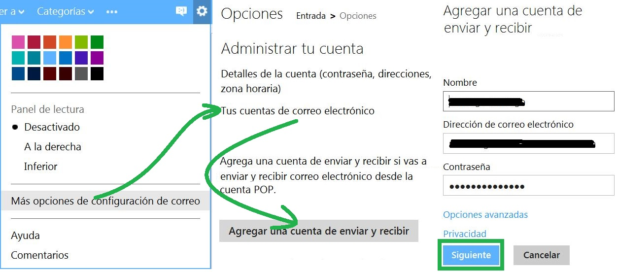 Outlook.com para leer mensajes de Yahoo Mail