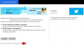 Outlook.com y Twitter