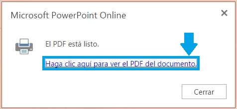 Powerpoint Online y PDF