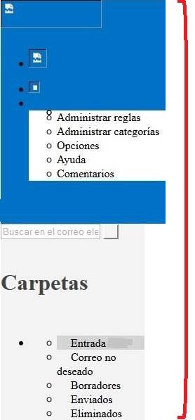 Problema para ver Outlook.com correctamente