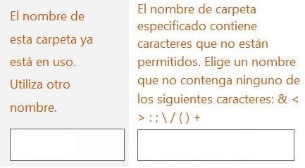 Problemas para crear una carpeta en Outlook.com