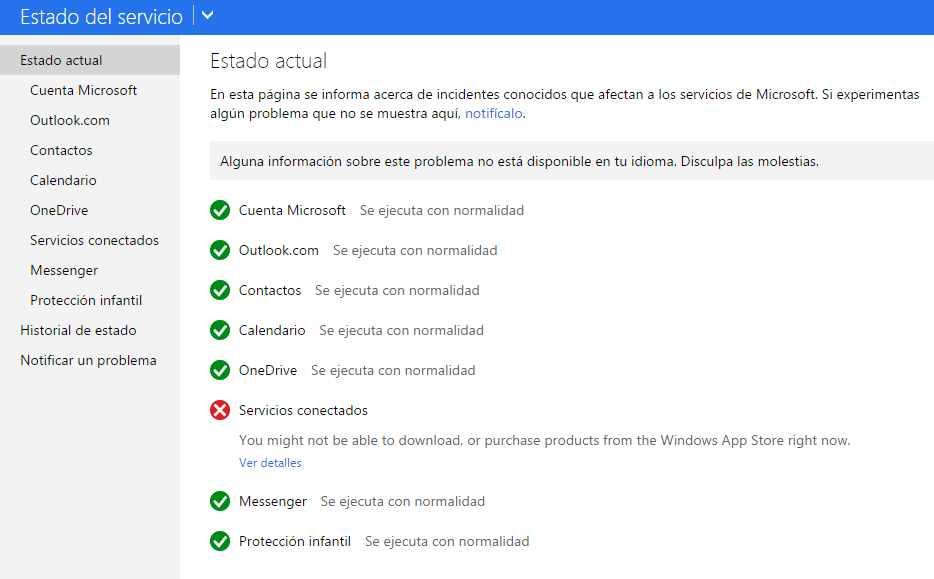 Problemas para descargar productos desde el Windows Store