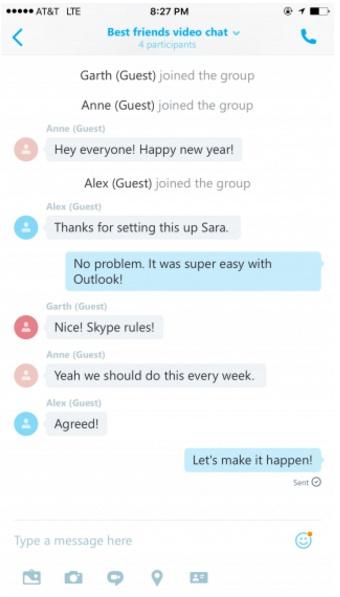 Programación de llamadas en Skype para iOS y Android