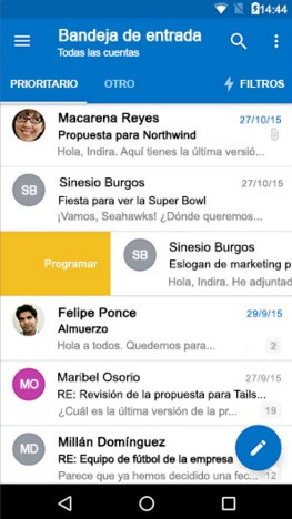 Programar correos Outlook