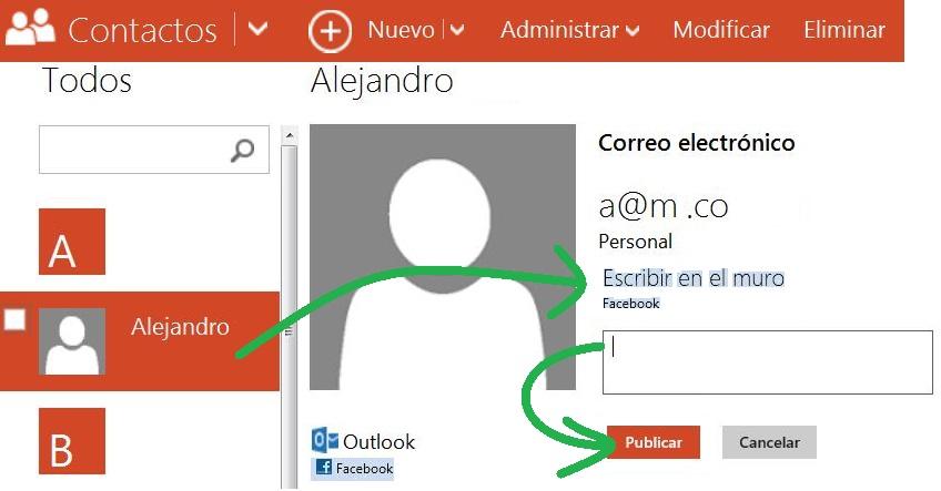 Cómo publicar en Facebook desde Outlook