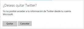 Quitar conexión entre Outlook.com y Twitter