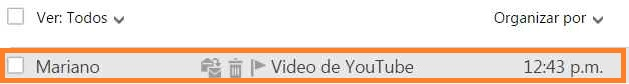 Recibir videos de YouTube en Outlook.com