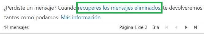 Recuperar Correos eliminados en Outlook.com