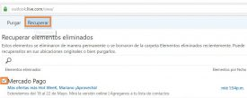 Recuperar correos en Outlook.com