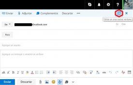 Redactar correos en una nueva ventana