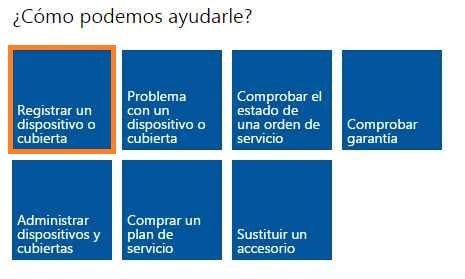 Registrar un Surface a Outlook.com