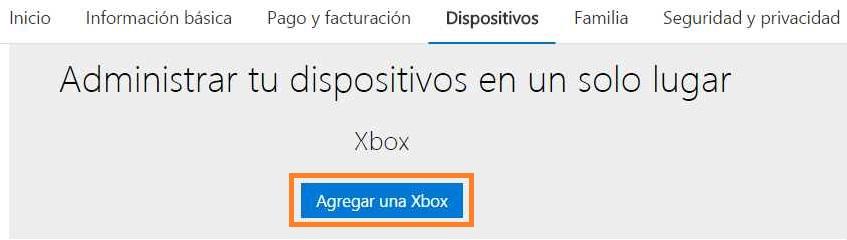 Registrar una Xbox en una cuenta de Outlook.com